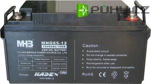Pb akumulátor MHB VRLA AGM 12V/65Ah trakční