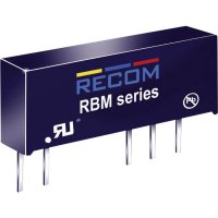 DC/DC měnič Recom RBM-0505D (10000163), vstup 5 V/DC, výstup ±5 V/DC, ±100 mA, 1 W