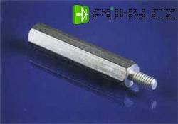 Závit M4 vnitřní/vnější, otvor klíče 7, délka 15 mm