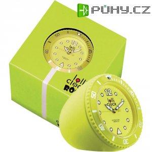 Analogové stolní hodiny Lolliclock, 44 x 44 x 47 cm, žlutá