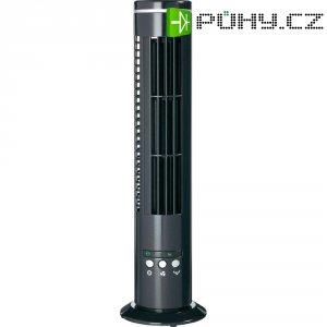 Stolní věžový mini ventilátor, 8 W, černá