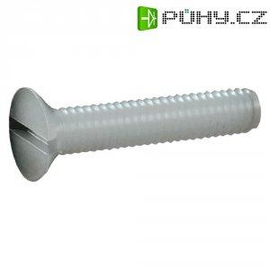 Šrouby se zápustnou hlavou s drážkou, polyamid, DIN 963, M4 x 20, 10 ks