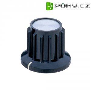 Knoflík s hliníkovou krytkou, leštěná, 6 mm, černá