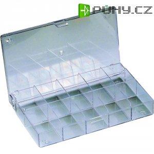 Zásobník na součástky (krabička) - 10 přihrádek, 164 x 31 x 101 mm