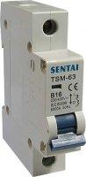 Jistič TSM-63 230V/16A/B 1fázový na DIN lištu
