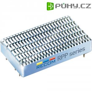 DC/DC měnič Recom RPP20-4812DW, vstup 18-75 V/DC, výstup ± 12 V/DC, ± 833 mA
