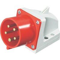CEE zásuvka PCE, IP44, 32 A, červená