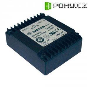 Plochý transformátor Weiss UI 39, 230 V/2x 18 V, 2x 389 mA, 14 VA