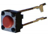 Mikrospínač 6x6mm v=4,3mm, přívody 20mm
