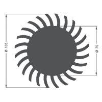 LED chladič Fischer Elektronik SK 584 25 SA 10021657, 1.5 K/W, (Ø x v) 105 mm x 25 mm