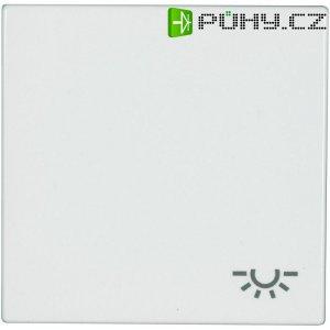 Krytka vypínače se symbolem světla Jung, LS 990 L WW, bílá