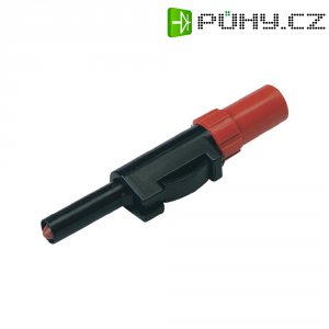 Laboratorní konektor Ø 4 mm SKS Hirschmann SLS 20 B (931825101), zástrčka rovná, červená