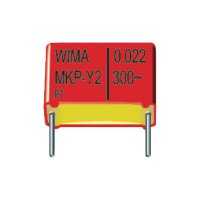 Kondenzátor odrušovací Y2 Wima, 0,01 µF, 300 V/AC, 20 %, 11 x 5 x 18 mm