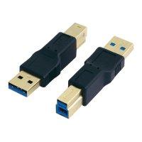 Adaptér USB 3.0, A/B, černý