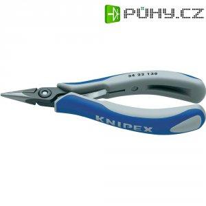 Přesné kleště pro elektroniky Knipex 34 22 130, 135 mm, plochý, kulatý břit