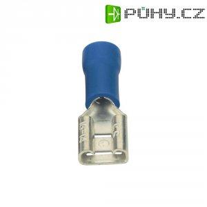 Faston zásuvka Vogt Verbindungstechnik 3906 6.3 mm x 0.8 mm, 180 °, částečná izolace, modrá, 1 ks