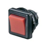 Kolébkový přepínač SCI, R13-136B-05 RED, 250 V/AC, 6 A, 2x zap./zap., červená