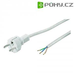 Síťový kabel Goobay k žehličce, zástrčka/otevřený konec, 1 mm², 3 m, bílošedá