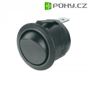 Kolébkový spínač, s aretací, 250 V/AC, 6 A, vyp/zap, černá