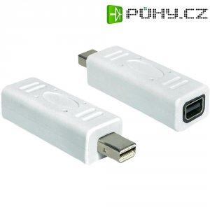 Mini adaptér zásuvka/zástrčka, bílá