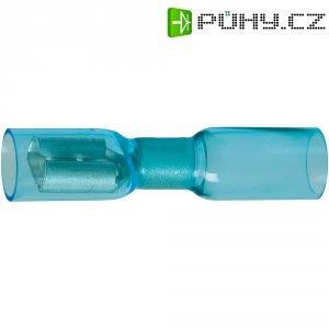 Faston zásuvka se smršťovací bužírkou DSG Canusa 7934200502, 6.3 mm x 0.8 mm, modrá, 1 ks