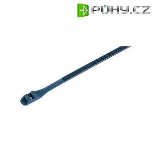 Stahovací pásky s dvojitou pojistkou KSS DLR132BK, 132 x 9 mm, 100 ks, černá