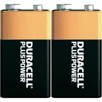 Alkalická baterie Duracell Plus 9V, sada 2 ks