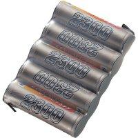 Akupack přijímače NiMH Conrad Energy AA, 6 V, 2300 mAh, Side by Side, s páj. hroty