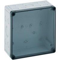 Instalační krabička Spelsberg TK PS 1811-8f-tm, (d x š x v) 180 x 110 x 84 mm, polykarbonát, polystyren, šedá, 1 ks