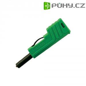 Laboratorní konektor Ø 4 mm SKS Hirschmann SLS 200 (932153104), zástrčka rovná, zelená