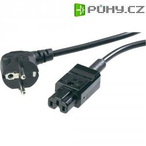 Napájecí kabel, 6710, zástrčka euro ⇔ CEE vidlice, 2 m, černá