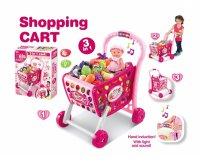 Košík nákupní G21 s příslušenstvím růžový