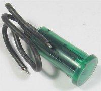 Kontrolka 12V zelená, průměr 12,5mm, drátové vývody
