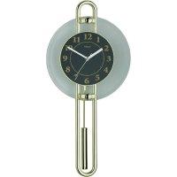 Quartz kyvadlové nástěnné hodiny - pendlovky 14813, zlatá, černá, stříbrná