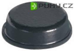 Samolepicí přístrojové nožičky, kulaté, 9,5 mm x 3,2 mm, 12 ks, černá