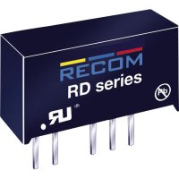 DC/DC měnič Recom RD-1212D (10000225), vstup 12 V/DC, výstup ±12 V/DC, ±84 mA, 2 W
