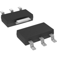 Tranzistor pro malý signál Infineon Technologies BSP 296 0,8 Ω, 100 V, 1000 mA SOT 223