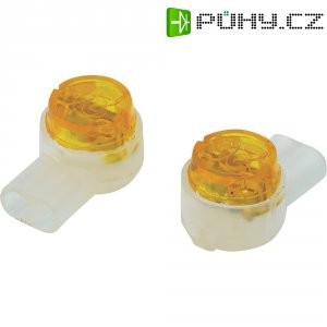 Svorka, SJT2, 0,13 - 0,65 mm², 2pólová, žlutá, 100 kusů