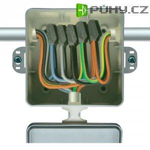 Instalační krabička s 5 svorkami CellPack, 221122, 0,5 - 2,5 mm², šedá