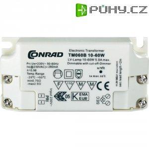 Mini elektronický transformátor, TM60B, 10 - 60 W, 230 V/11,5 V, stmívatelný