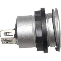 USB 3.0 vestavný konektor Schlegel RRJ_USB3_AA, IP65, zásuvka vestavná, stříbrný