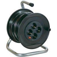 Kabelový buben AS Schwabe, 11103, 4 zásuvky, 20 m, černá