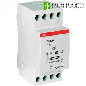 Zvonkový transformátor na lištu ABB 2CSM081301R0811, 8 V/AC, šedá