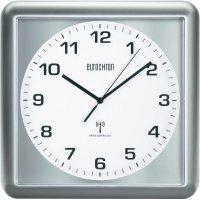 Analogové DCF nástěnné hodiny Eurochron EFW 5000, 30 x 30 x 4,4 cm, stříbrná