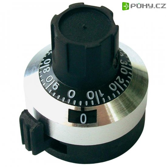 Otočný knoflík s počítadlem Bourns H-5166A, 6,35 mm, 15 otáček - Kliknutím na obrázek zavřete