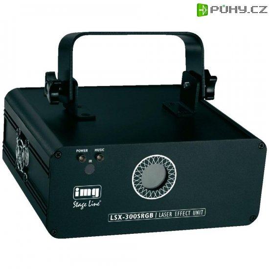 DMX laserový efekt IMG Stage Line LSX-300SRGB, 230 V, RGB - Kliknutím na obrázek zavřete