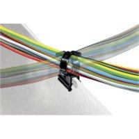 Stahovací pásky HellermannTyton EdgeClip, 156-01601, 200 x 4,6 mm, černá