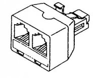 Modulární rozbočení 8P8C (RJ45) 1x male/2x female