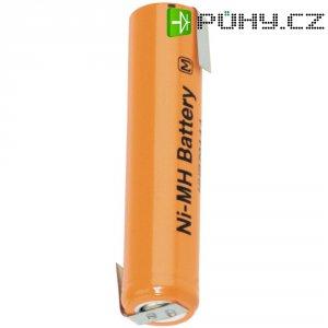 Akumulátor s pájecími kontaktyNiMH Panasonic AAA, 1,2 V, 730 mAh