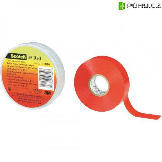 Izolační páska 3M, 80-6112-1156-8, SCOTCH 35 (19 mm x 20 m), červená - Kliknutím na obrázek zavřete